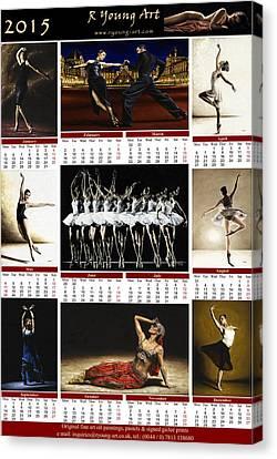 2015 Fine Art Calendar Canvas Print by Richard Young