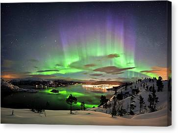 Aurora Borealis Canvas Print by Tommy Eliassen
