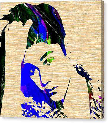 Justin Bieber Collection Canvas Print by Marvin Blaine