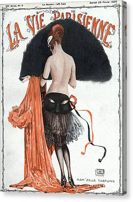 La Vie Parisienne  1920 1920s France Canvas Print by The Advertising Archives