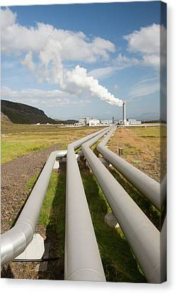 Geothermal Power Station Canvas Print by Ashley Cooper