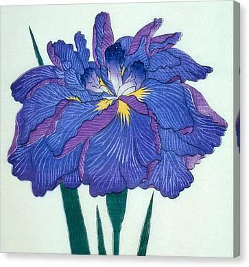 Japanese Flower  Canvas Print by Japanese School