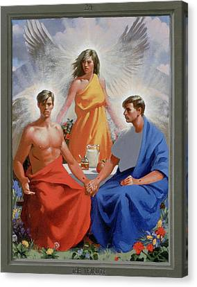 24. The Trinity / From The Passion Of Christ - A Gay Vision Canvas Print by Douglas Blanchard