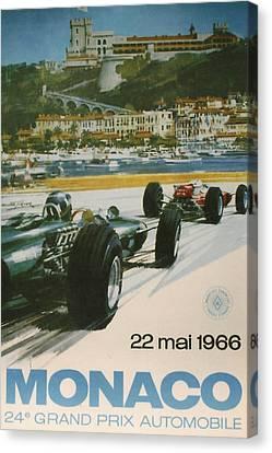 24th Monaco Grand Prix 1966 Canvas Print by Georgia Fowler