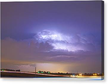 25 To 34 Intra-cloud Lightning Thunderstorm Canvas Print by James BO  Insogna