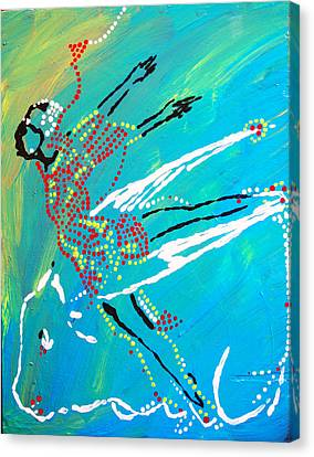 Dinka Dance - South Sudan Canvas Print by Gloria Ssali