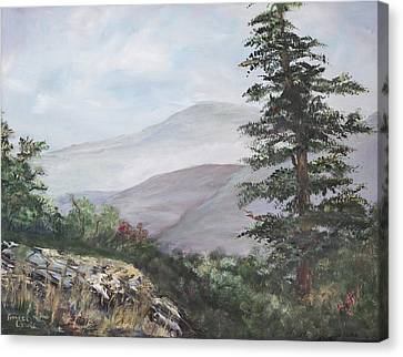 The Smokies Canvas Print by Frances Lewis