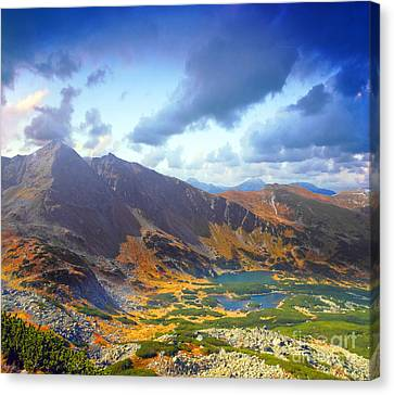 Mountains Landscape Canvas Print by Michal Bednarek