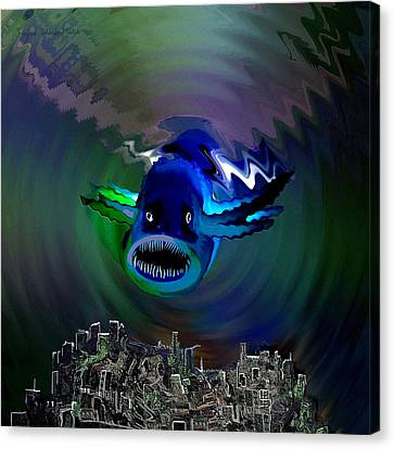 278 -   The Custodian Of Atlantis Canvas Print by Irmgard Schoendorf Welch