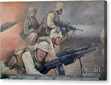 29 Palms Mural 1 Canvas Print by Bob Christopher
