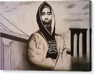 2pac Canvas Print by Aileen Carruthers