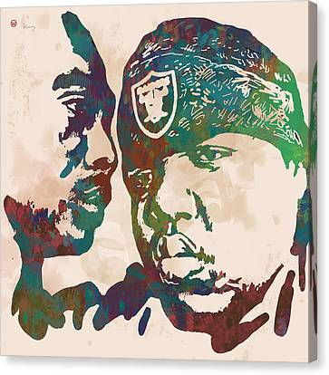 2pac Biggie Smalls Modern Pop Art  Poster Canvas Print by Kim Wang
