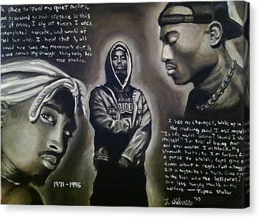 2pac Tribute Canvas Print by Larry Silver