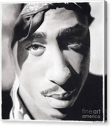 2pac Wearing His Color Canvas Print by Riane Cook
