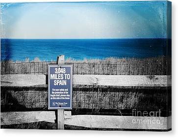 3 048 Miles To Spain Canvas Print by Sabine Jacobs