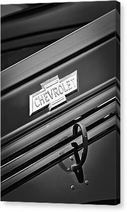 1938 Chevrolet Pickup Truck Emblem Canvas Print by Jill Reger