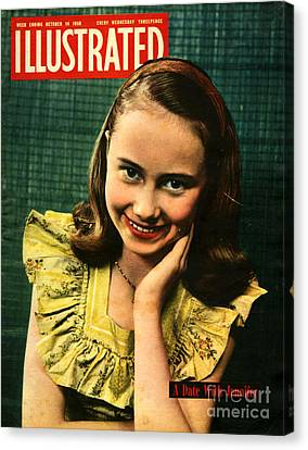 1950s Uk Illustrated Magazine Cover Canvas Print by The Advertising Archives