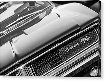 1969 Dodge Charger R-t Emblem Canvas Print by Jill Reger