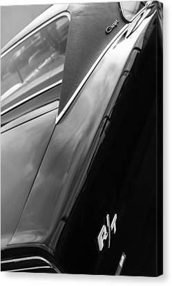 1969 Dodge Charger R-t Side Emblem Canvas Print by Jill Reger