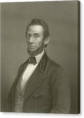 Abraham Lincoln Canvas Print by English School