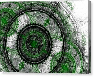 Abstract Mechanical Fractal Canvas Print by Martin Capek