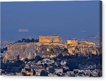 Acropolis Of Athens During Sunrise Canvas Print by George Atsametakis