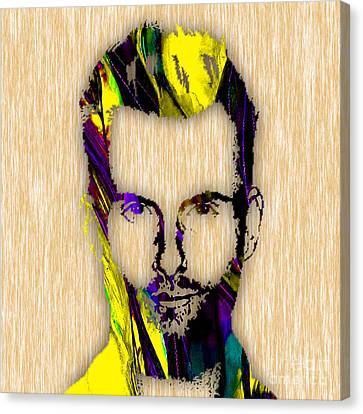 Adam Levine Maroon 5 Painting Canvas Print by Marvin Blaine