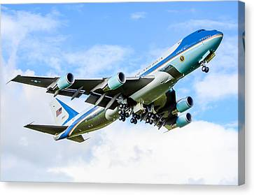 Air Force One Canvas Print by Puget  Exposure