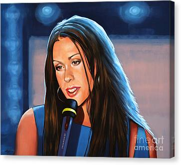 Alanis Morissette  Canvas Print by Paul Meijering
