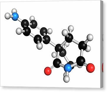 Aminoglutethimide Anti-steroid Molecule Canvas Print by Molekuul