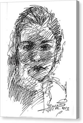 ana Canvas Print by Ylli Haruni