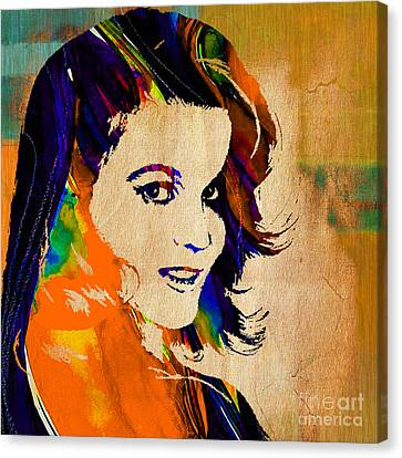 Ann Margaret Collection Canvas Print by Marvin Blaine