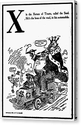 Anti-trust Cartoon, 1902 Canvas Print by Granger