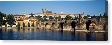 Arch Bridge Across A River, Charles Canvas Print by Panoramic Images