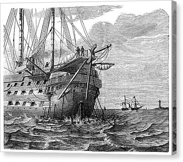 Atlantic Telegraph Cable Laying Canvas Print by Science Photo Library