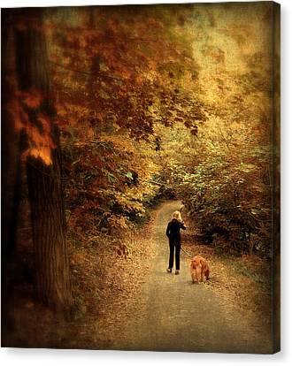Autumn Stroll Canvas Print by Jessica Jenney