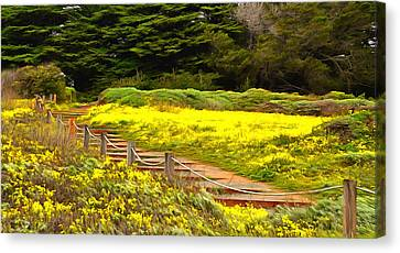 Painting Walkway To The Beach Canvas Print by Barbara Snyder
