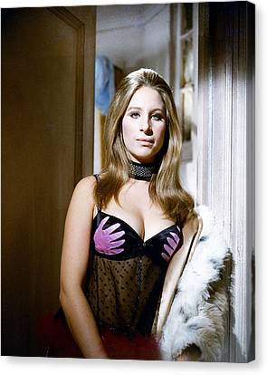 Barbra Streisand In The Owl And The Pussycat  Canvas Print by Silver Screen
