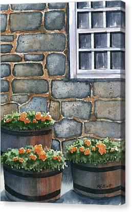 3 Barrels Canvas Print by Marsha Elliott