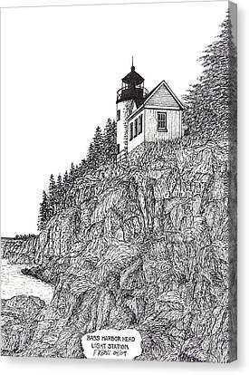 Bass Harbor Head Light Canvas Print by Frederic Kohli