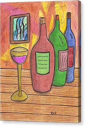 3 Brands Canvas Print by Ray Ratzlaff