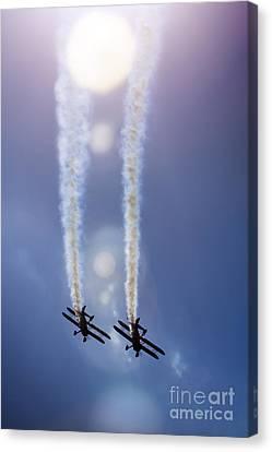 Breitling Wingwalkers Canvas Print by Angel  Tarantella