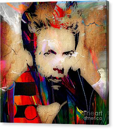 Bryan Adams Collection Canvas Print by Marvin Blaine