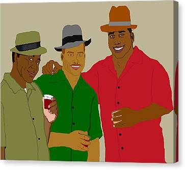 3 Buds Canvas Print by Pharris Art
