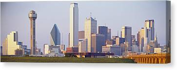 Buildings In A City, Dallas, Texas, Usa Canvas Print by Panoramic Images