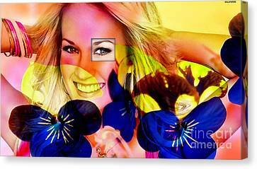 Carrie Underwood  Canvas Print by Marvin Blaine