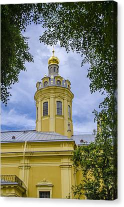 Cathedral Of Saints Peter And Paul - St Petersburg - Russia Canvas Print by Jon Berghoff
