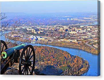 Chattanooga In Autumn Canvas Print by Melinda Fawver
