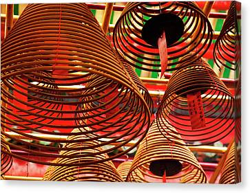 China, Hong Kong, Spiral Incense Sticks Canvas Print by Terry Eggers