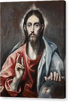 Christ Blessing Canvas Print by Celestial Images